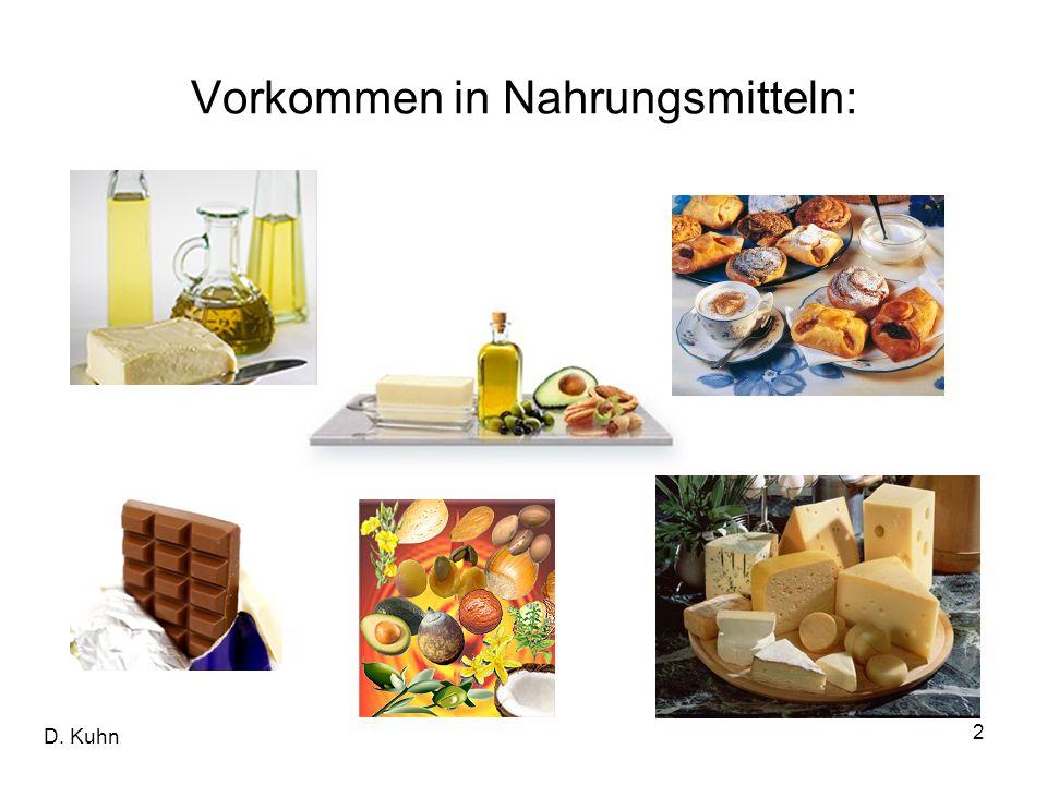 Vorkommen in Nahrungsmitteln: