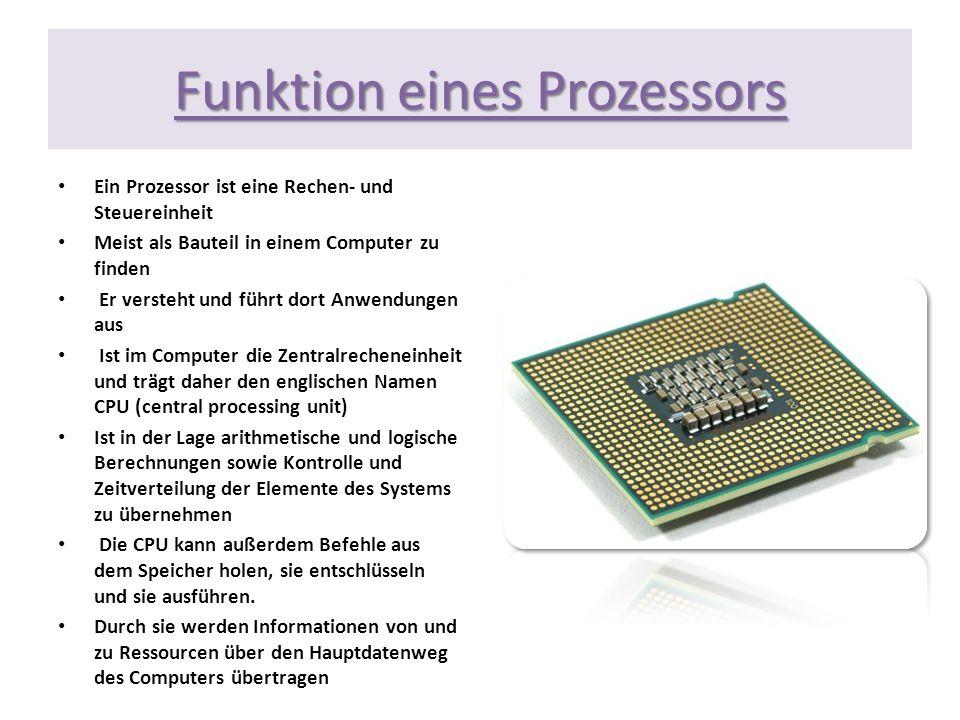 Funktion eines Prozessors