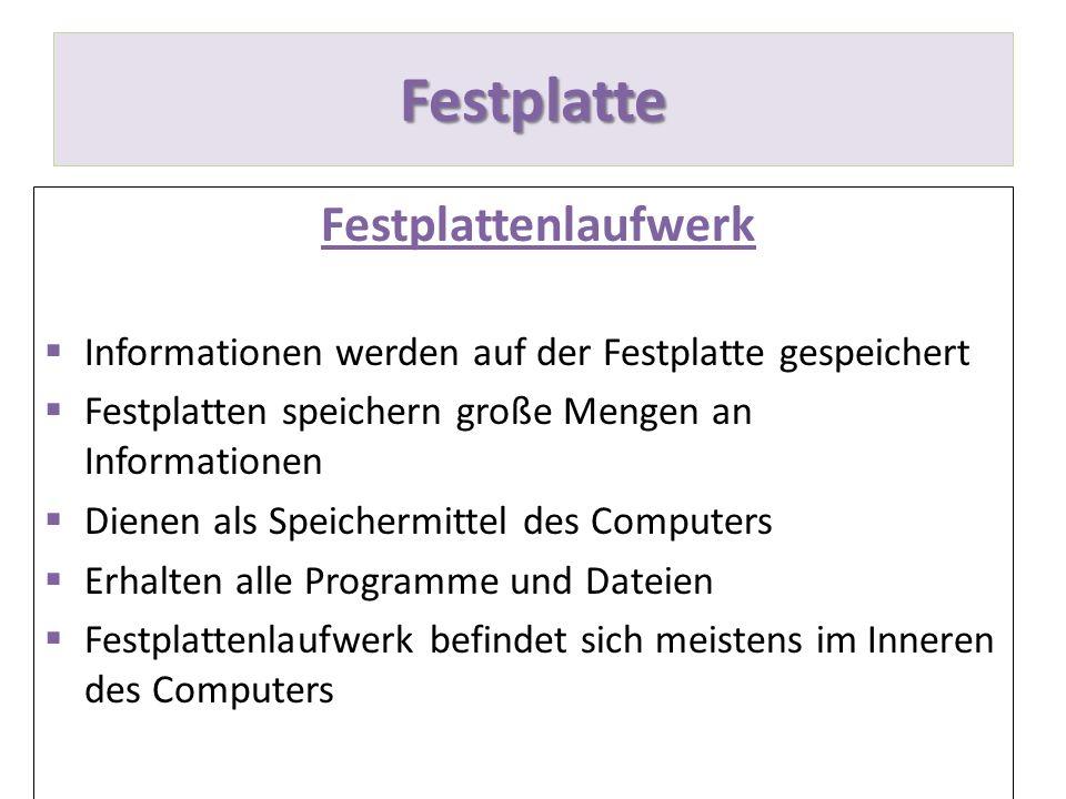 Festplatte Festplattenlaufwerk