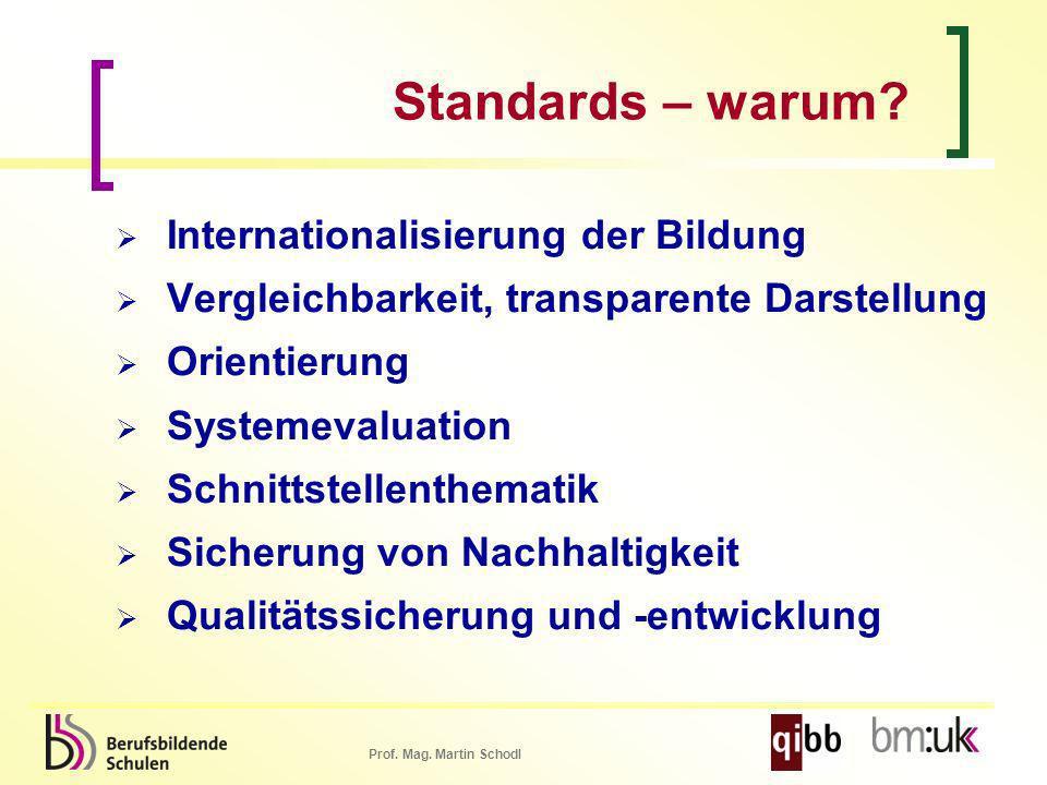 Standards – warum Internationalisierung der Bildung