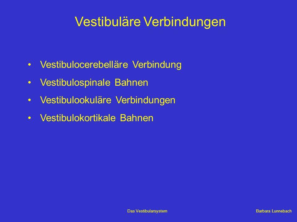 Vestibuläre Verbindungen
