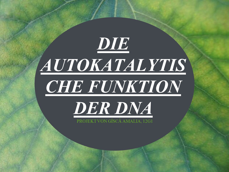 DIE AUTOKATALYTISCHE FUNKTION DER DNA