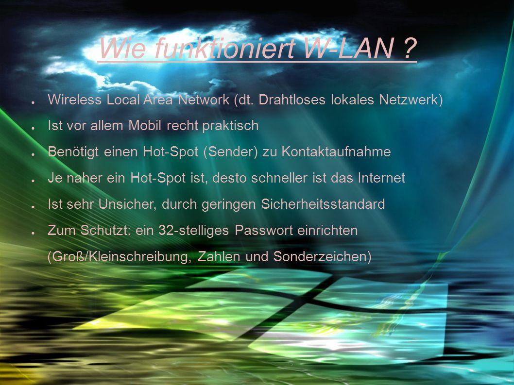 Wie funktioniert W-LAN