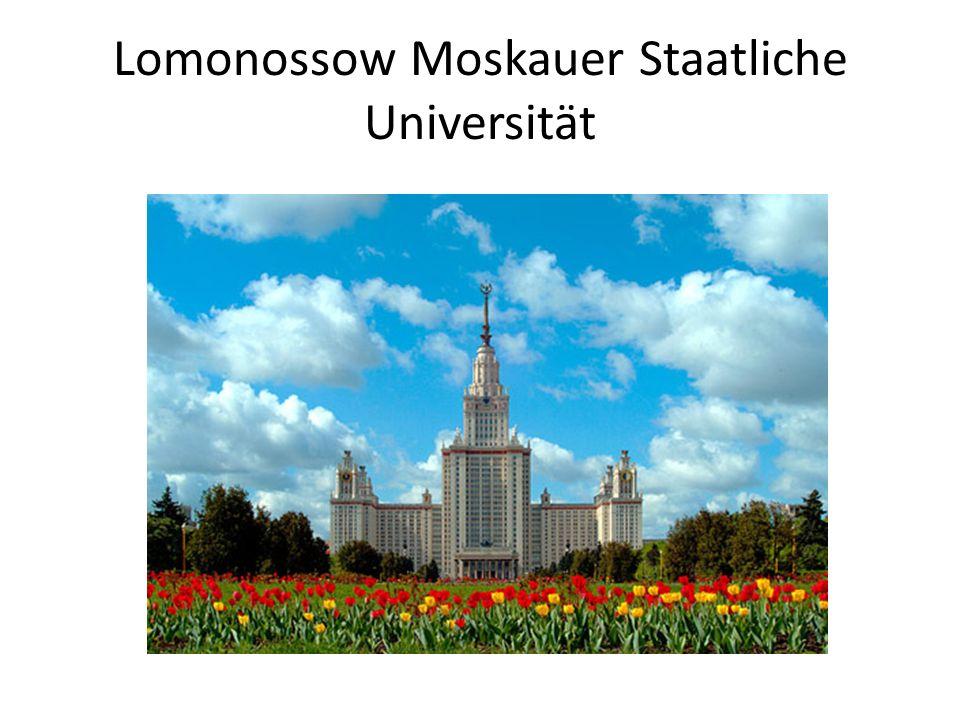 Lomonossow Moskauer Staatliche Universität