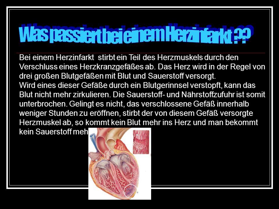 Was passiert bei einem Herzinfarkt