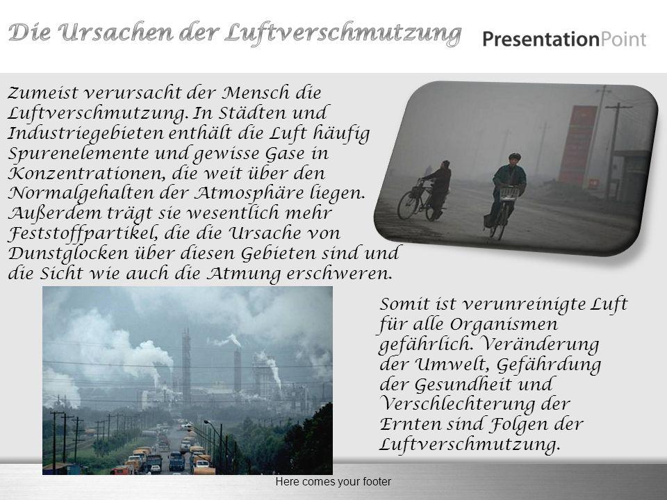 Die Ursachen der Luftverschmutzung