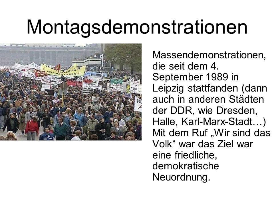Montagsdemonstrationen