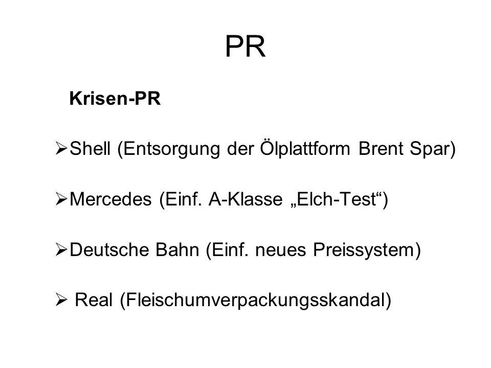 PR Krisen-PR Shell (Entsorgung der Ölplattform Brent Spar)