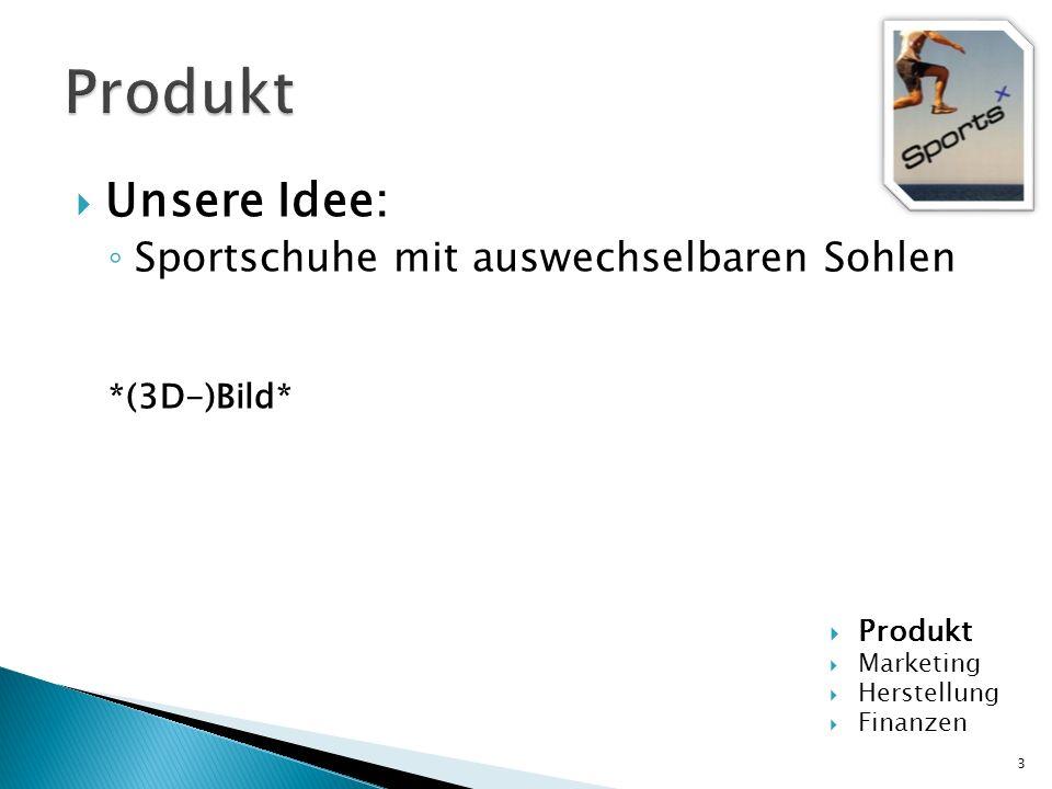 Produkt Unsere Idee: Sportschuhe mit auswechselbaren Sohlen
