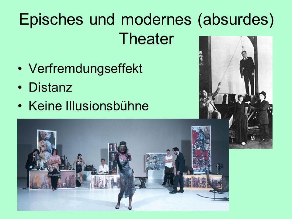 Episches und modernes (absurdes) Theater