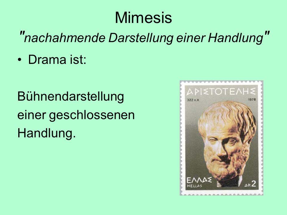 Mimesis nachahmende Darstellung einer Handlung