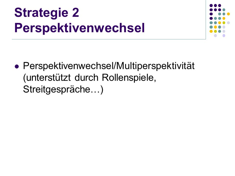 Strategie 2 Perspektivenwechsel
