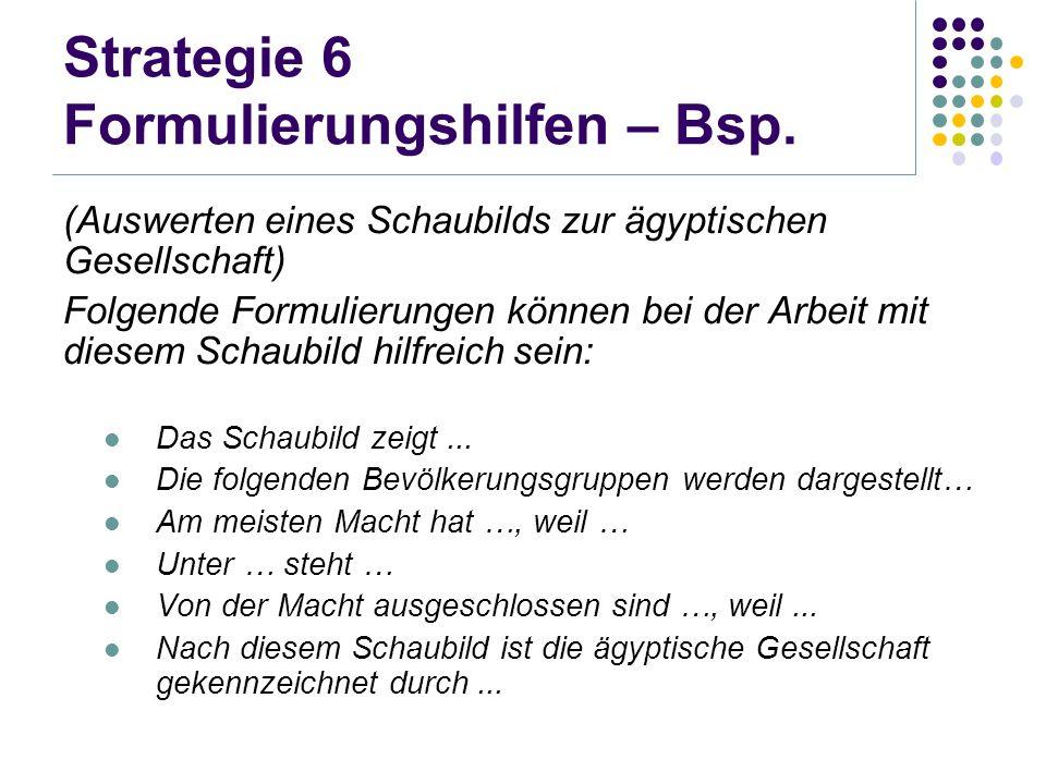 Strategie 6 Formulierungshilfen – Bsp.