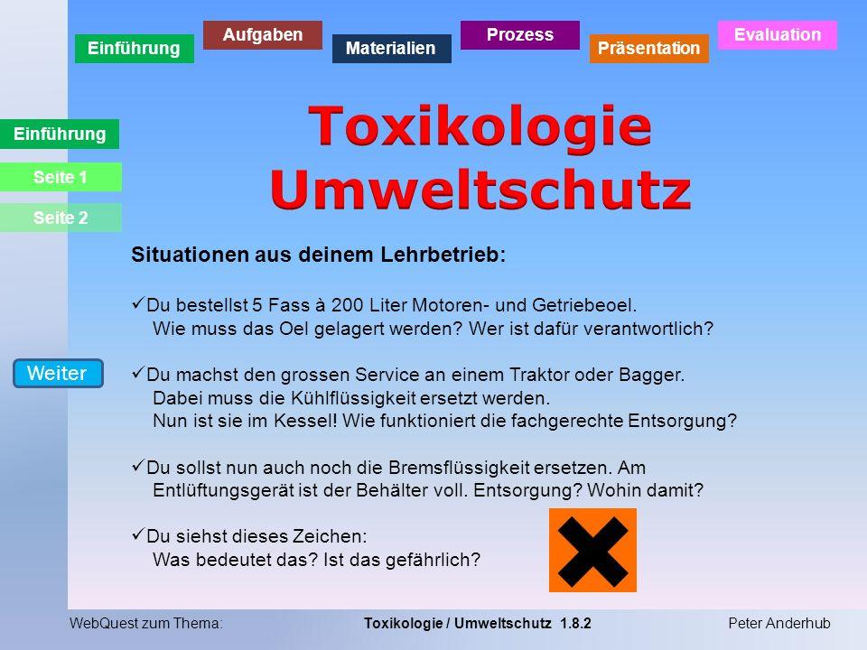 Toxikologie Umweltschutz