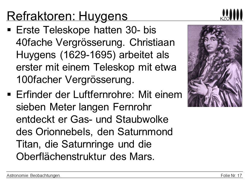 Refraktoren: Huygens