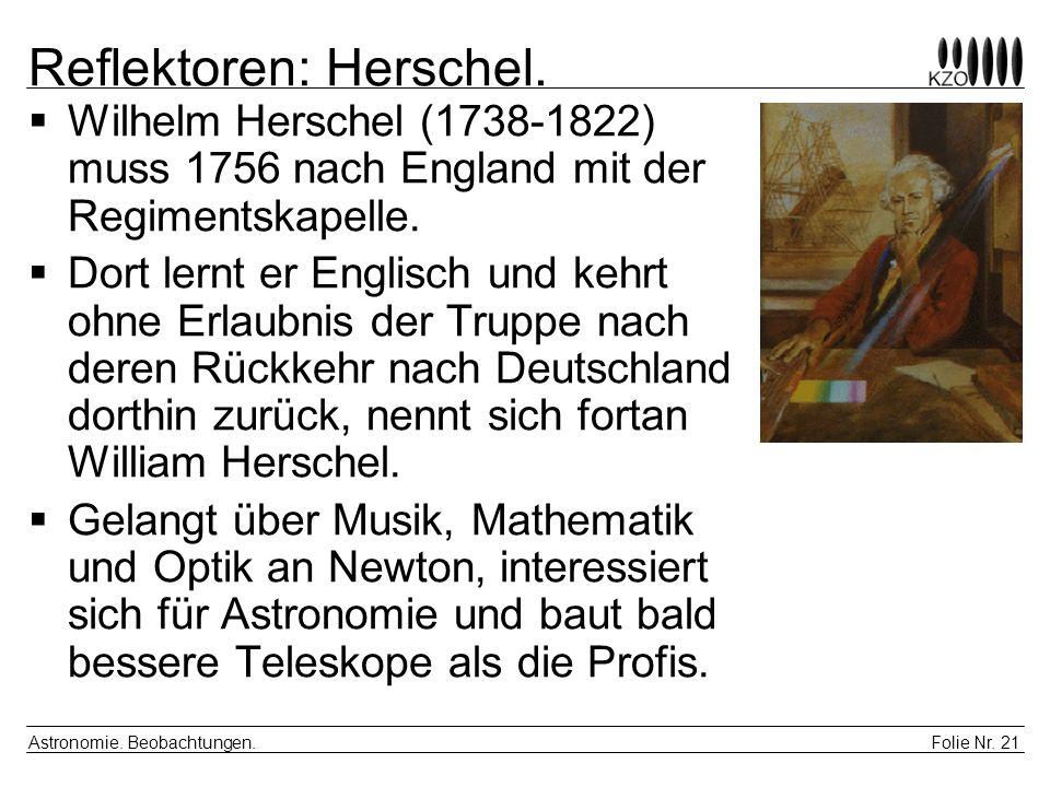 Reflektoren: Herschel.