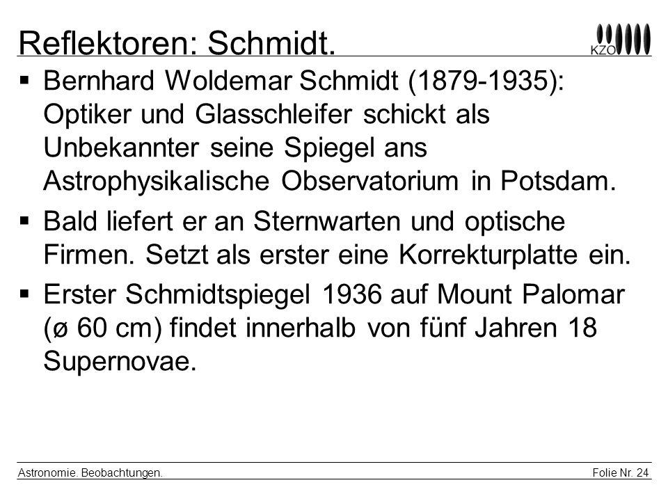Reflektoren: Schmidt.