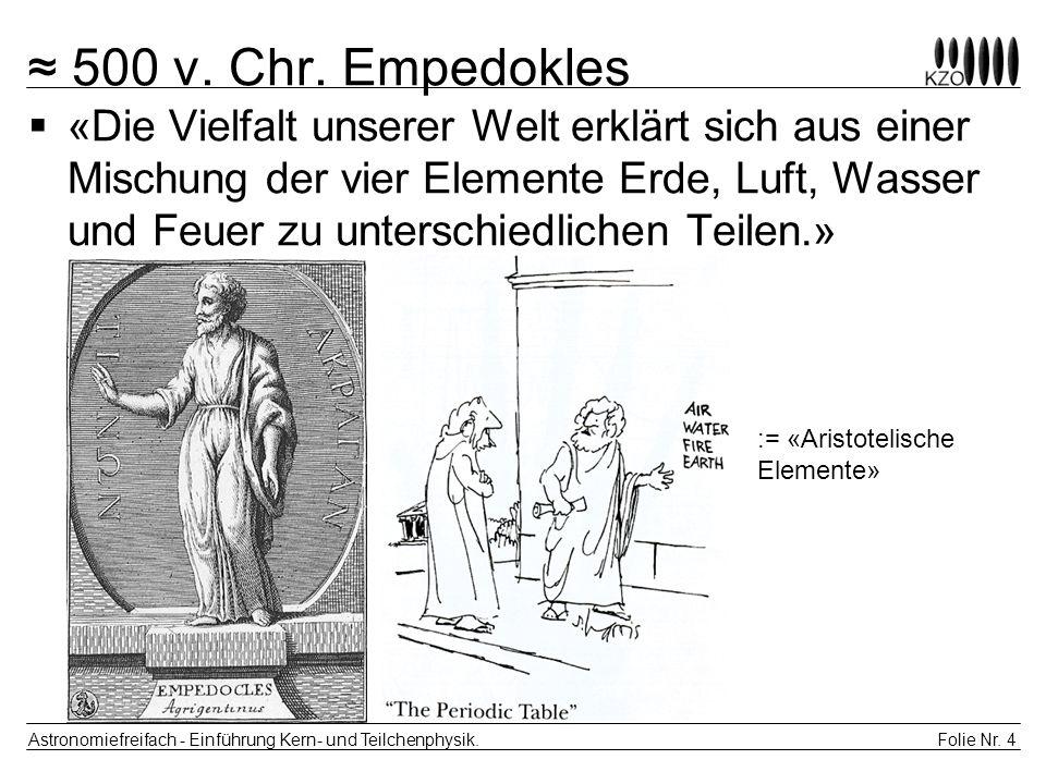 ≈ 500 v. Chr. Empedokles