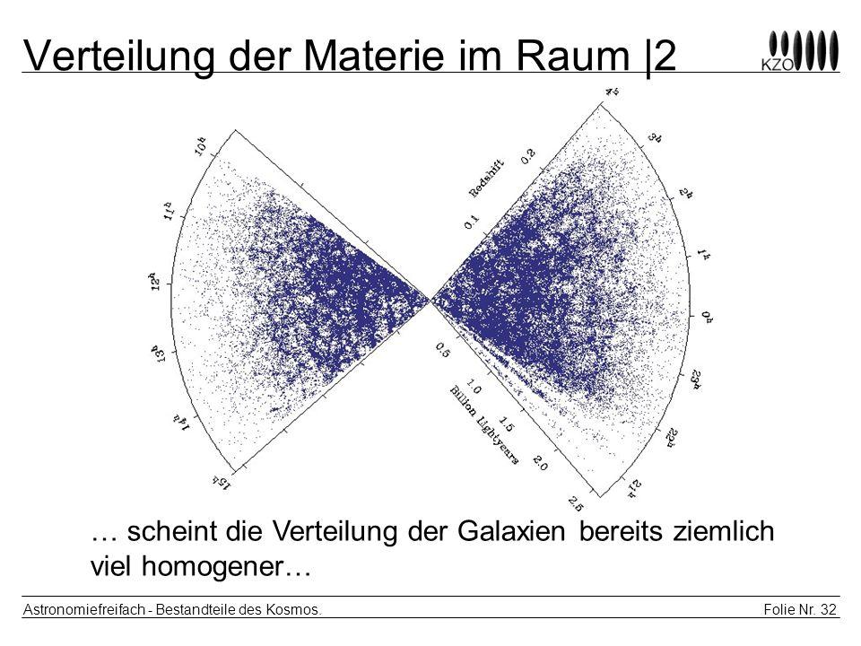 Verteilung der Materie im Raum |2