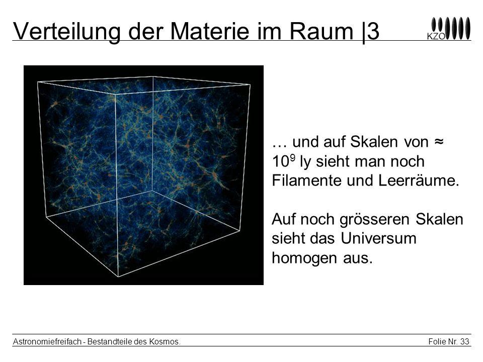 Verteilung der Materie im Raum |3