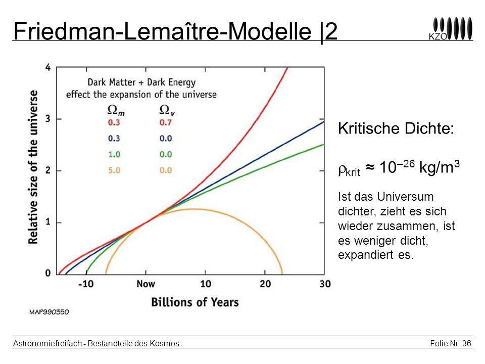 Friedman-Lemaître-Modelle |2