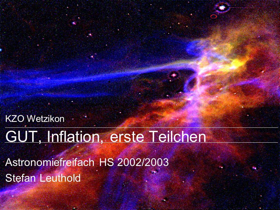 GUT, Inflation, erste Teilchen