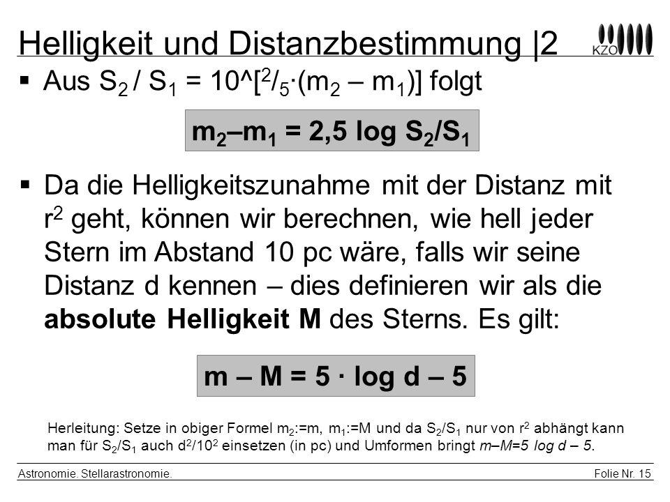 Helligkeit und Distanzbestimmung |2