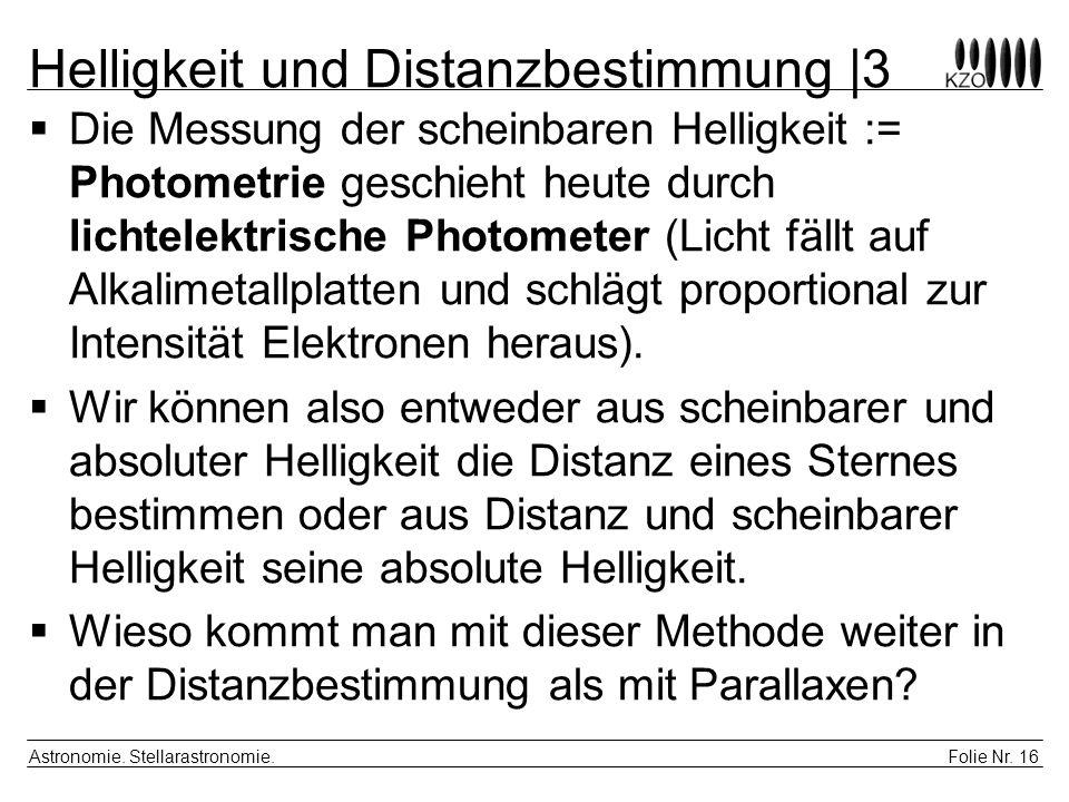 Helligkeit und Distanzbestimmung |3