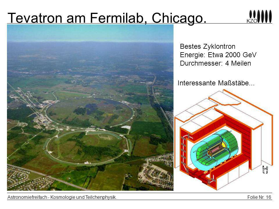 Tevatron am Fermilab, Chicago.