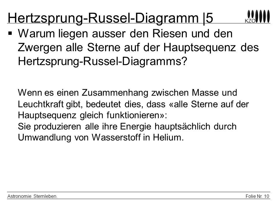 Hertzsprung-Russel-Diagramm |5