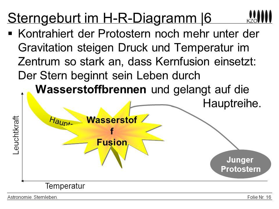 Sterngeburt im H-R-Diagramm |6