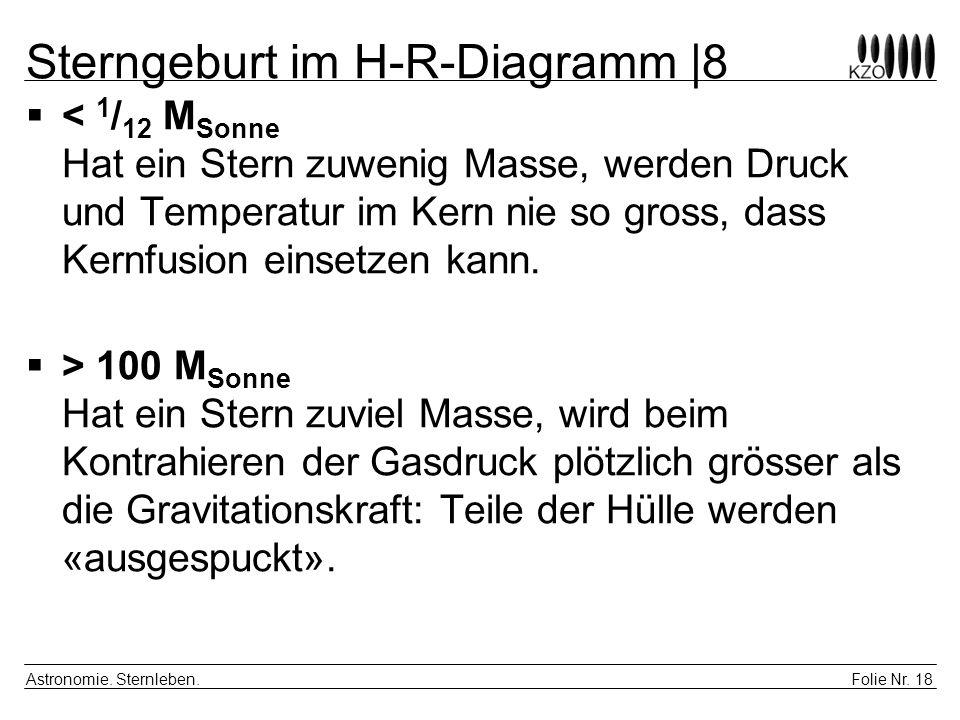 Sterngeburt im H-R-Diagramm |8