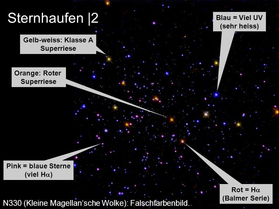 Sternhaufen |2 N330 (Kleine Magellan'sche Wolke): Falschfarbenbild.