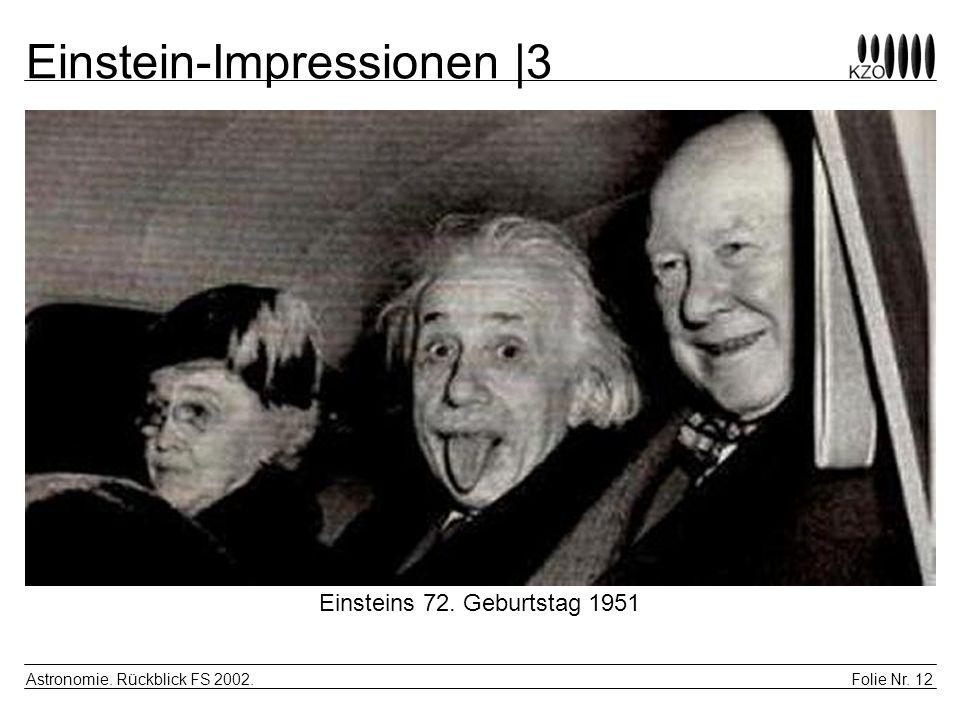 Einstein-Impressionen |3