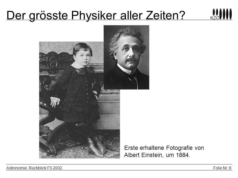 Der grösste Physiker aller Zeiten