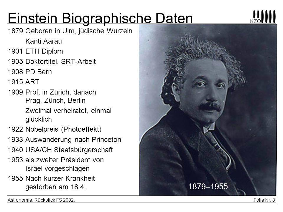 Einstein Biographische Daten