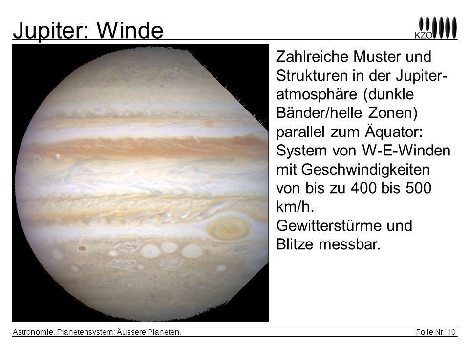 Jupiter: Winde