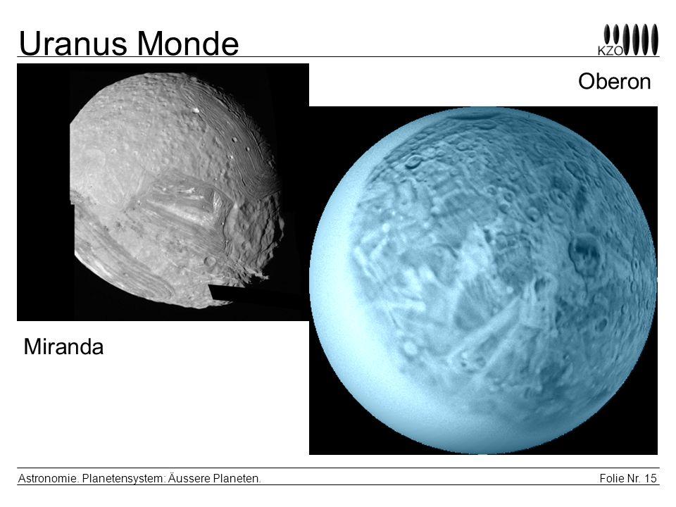 Uranus Monde Oberon Miranda