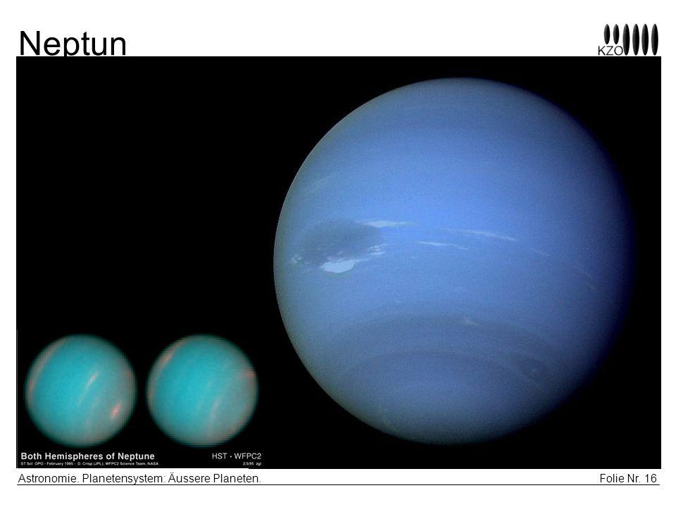 Neptun Astronomie. Planetensystem: Äussere Planeten.
