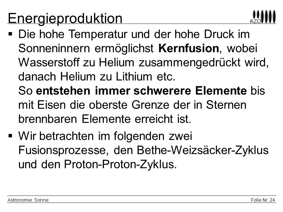 Energieproduktion
