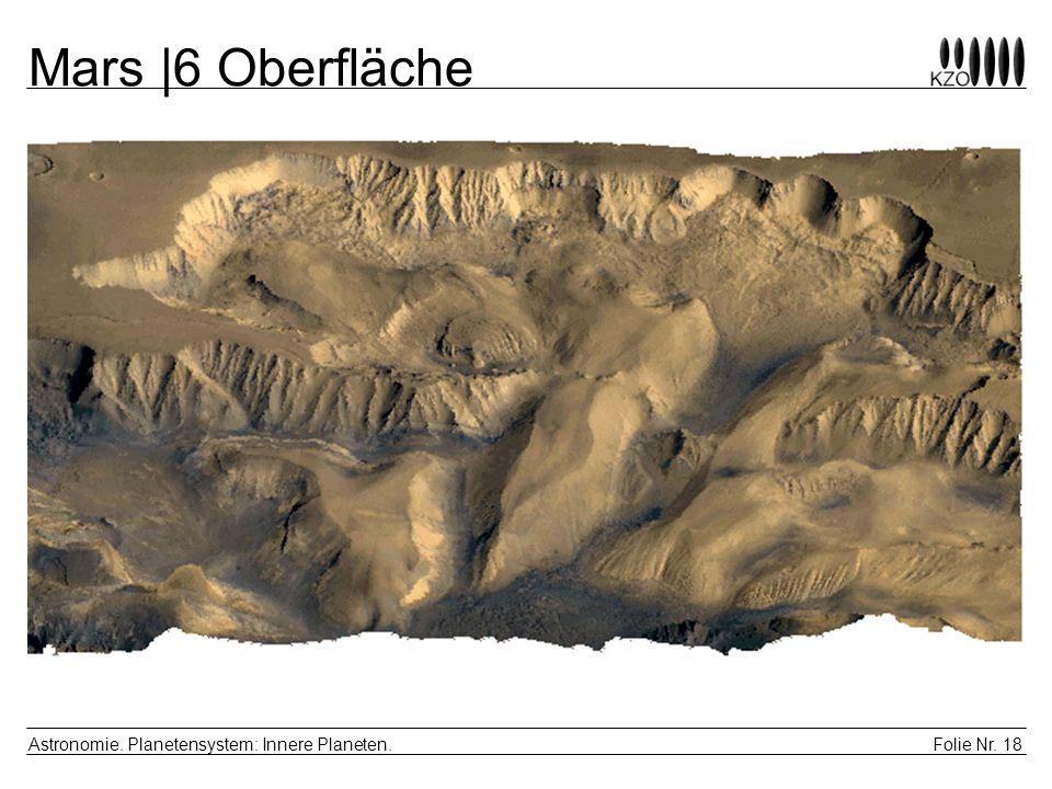 Mars |6 Oberfläche Astronomie. Planetensystem: Innere Planeten.