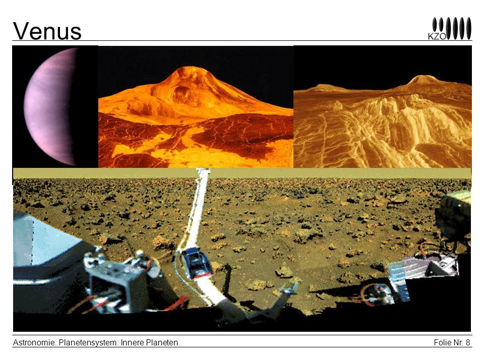 Venus Astronomie. Planetensystem: Innere Planeten.