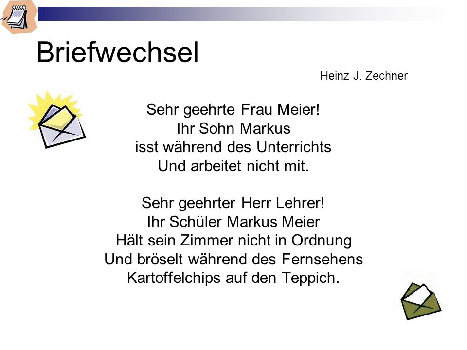 Briefwechsel Heinz J. Zechner
