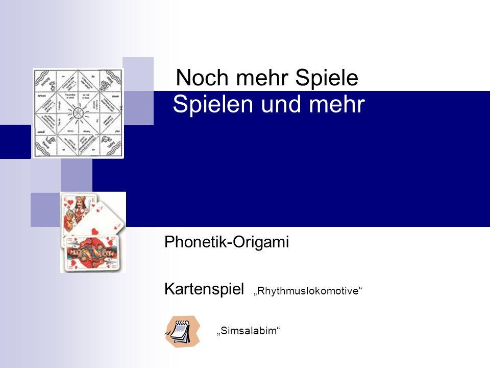"Phonetik-Origami Kartenspiel ""Rhythmuslokomotive ""Simsalabim"