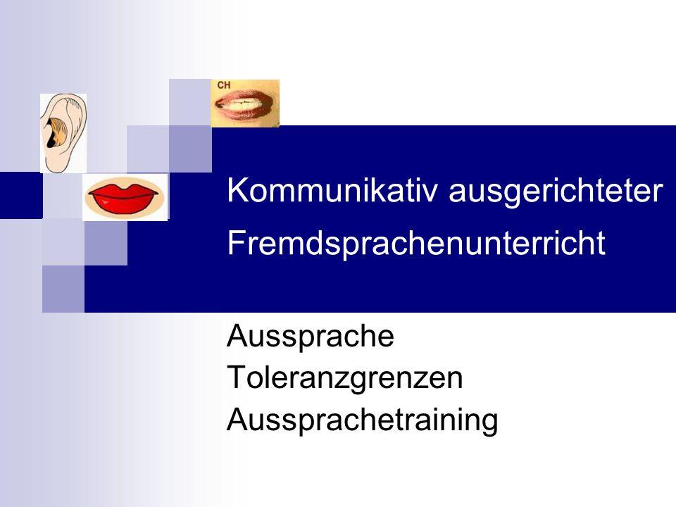 Kommunikativ ausgerichteter Fremdsprachenunterricht