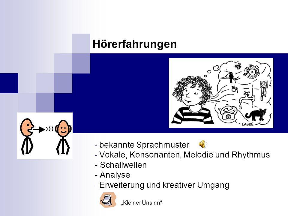 Hörerfahrungen bekannte Sprachmuster