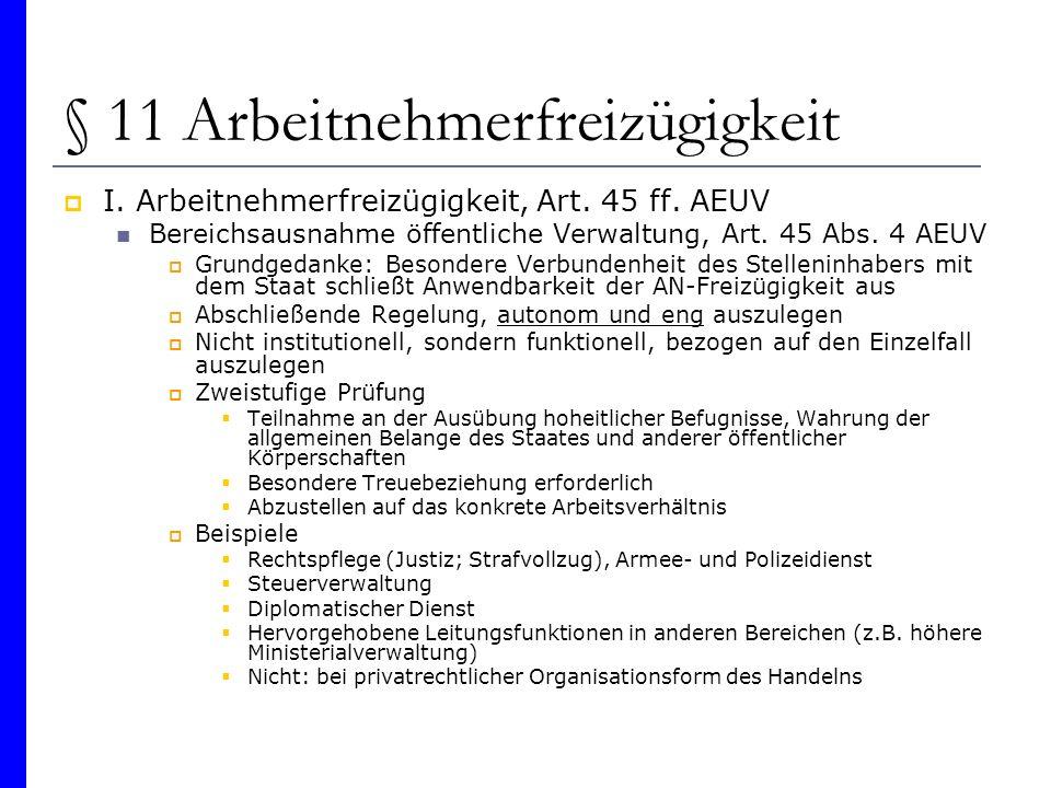 § 11 Arbeitnehmerfreizügigkeit