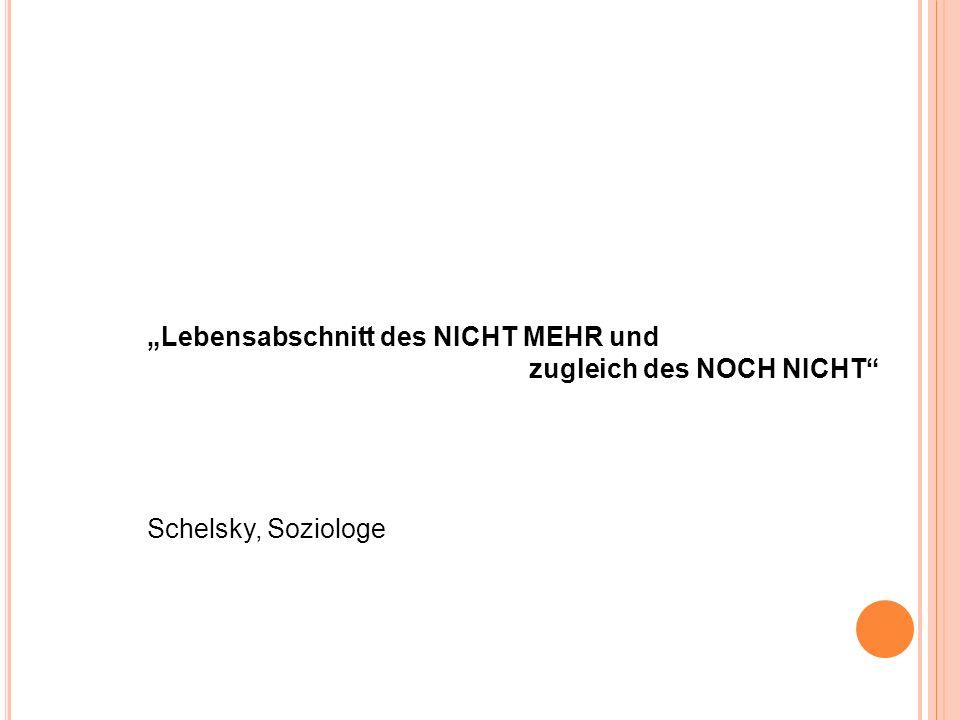 """""""Lebensabschnitt des NICHT MEHR und"""