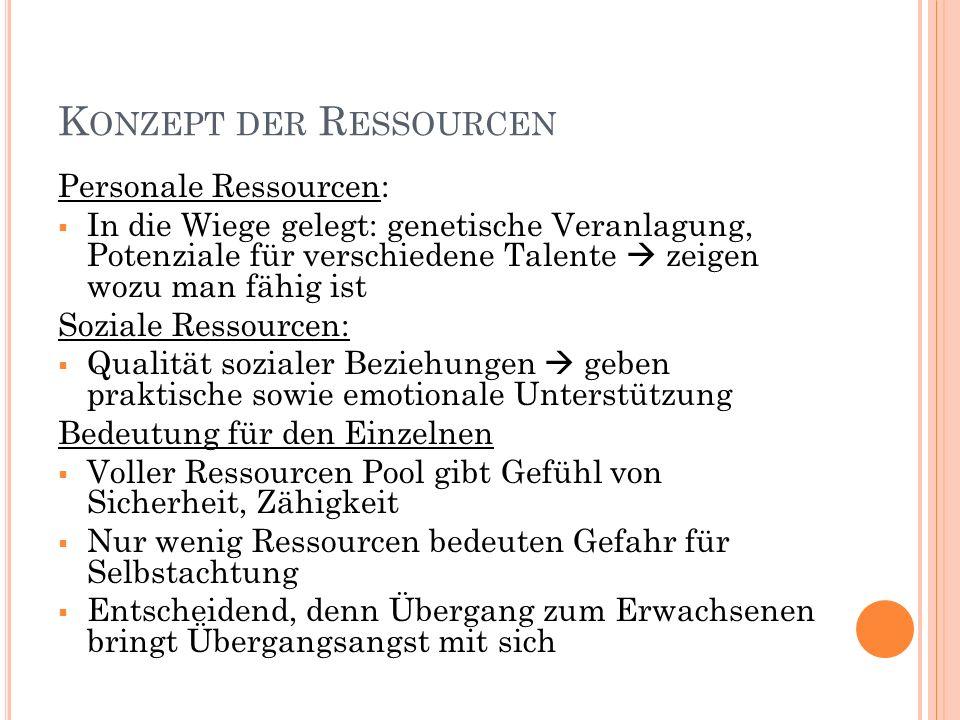 Konzept der Ressourcen