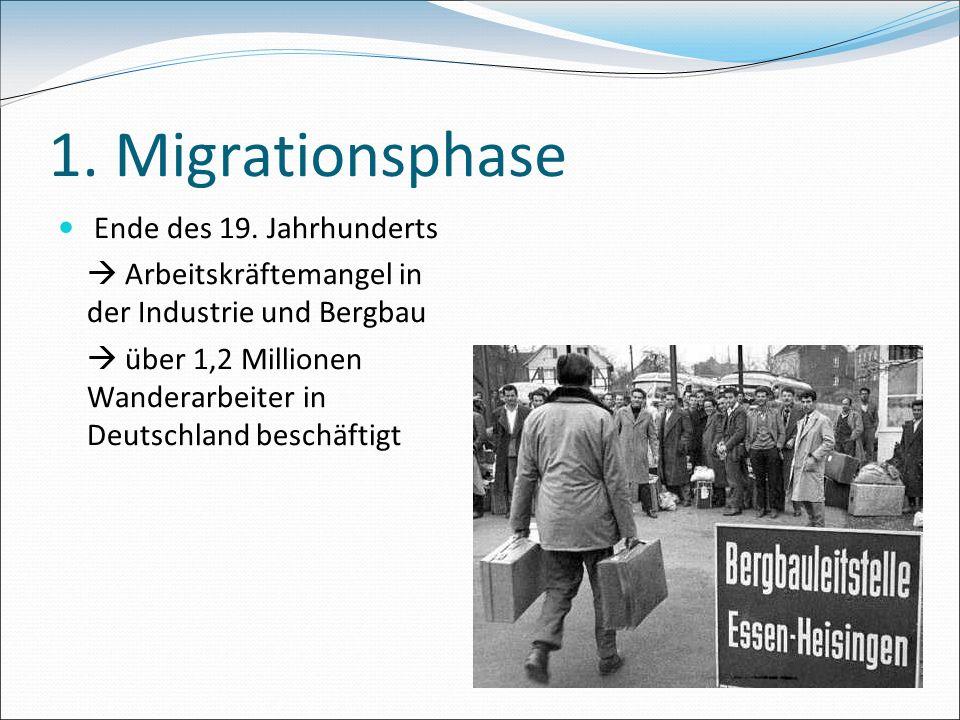 1. Migrationsphase Ende des 19. Jahrhunderts